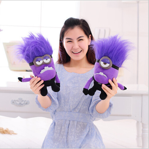 1 PCS 30CM Despicable Me 2 Minions Purple Evil Two Eyes Plush Toy Brinquedos Minions Gifts for Kids Children<br><br>Aliexpress