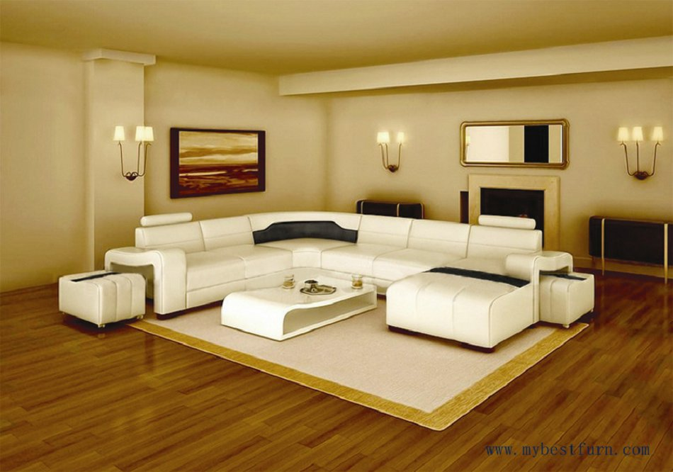 My Bestfurn Sofa Modern Design Best Living Room Furniture White Leather Sofa Set With Ottoman