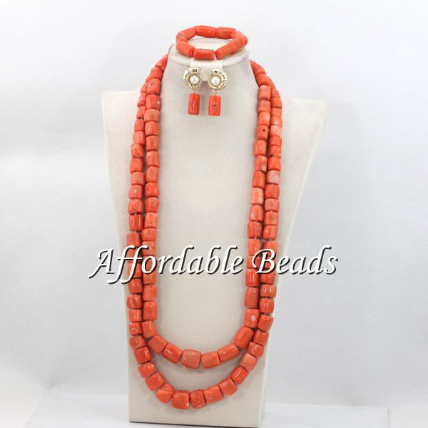 Fashion Bridal Beads Nigerian Set New African Coral Jewelry Set Wholesale Handmade Design CN120(China (Mainland))