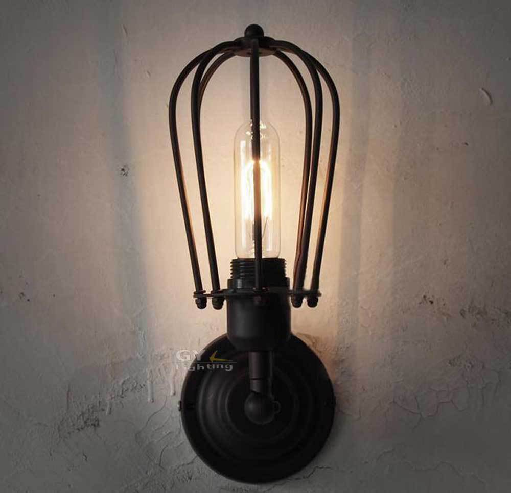 Vintage Rustic Wall Sconces : Aliexpress.com : Buy Contemporary Edison Vintage Cage Wall Mount Light Finished Rustic Wall ...