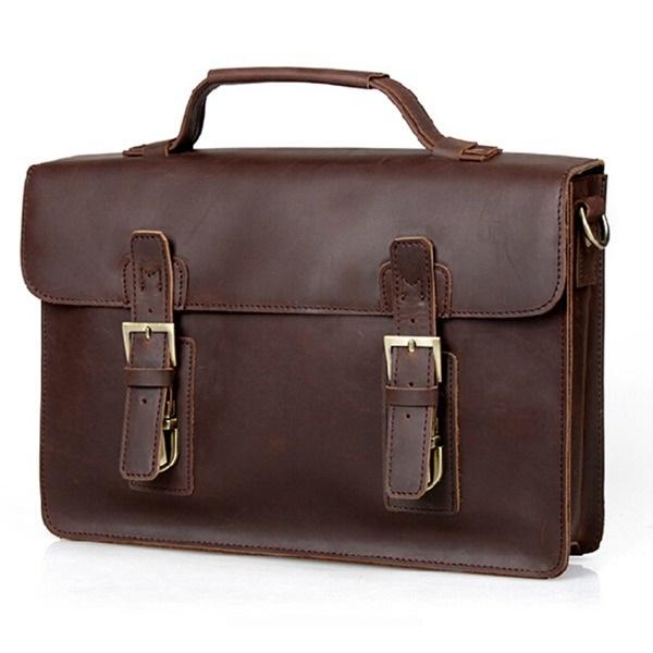 High quality men business shoulder bags British restore ancient ways bags men genuine leather handbags men messenger bags