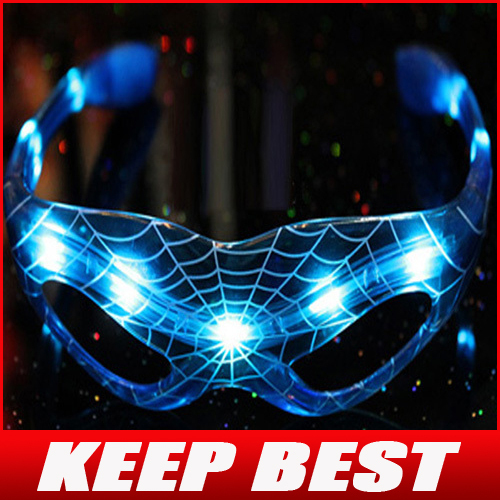 Free Shipping Cool Changeable LED Glasses Light Up Flashing LED Glasses Party Blue Glasses