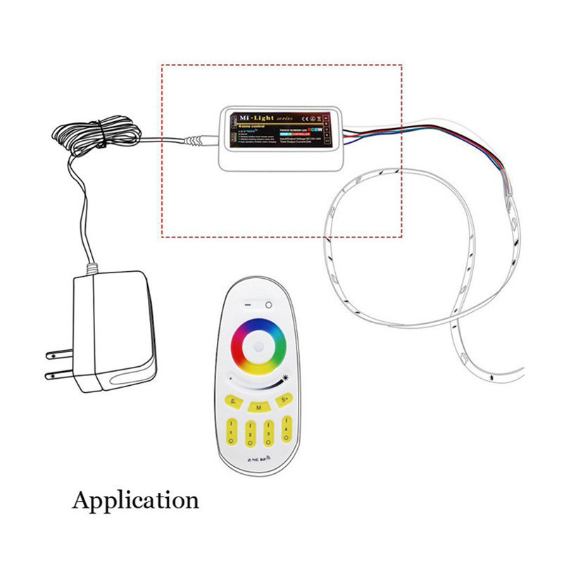 sxzm 4 zone rgbw mi light led controller   rgbw touch led