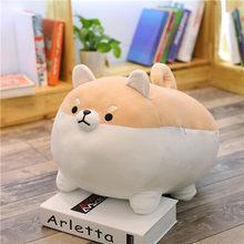 Nova 40/50 centímetros Bonito Chai Corgi Shiba Inu Dog Plush Toy Stuffed Animal Macio Pillow Presente De Natal para crianças Kawaii Presente Do Valentim(China)
