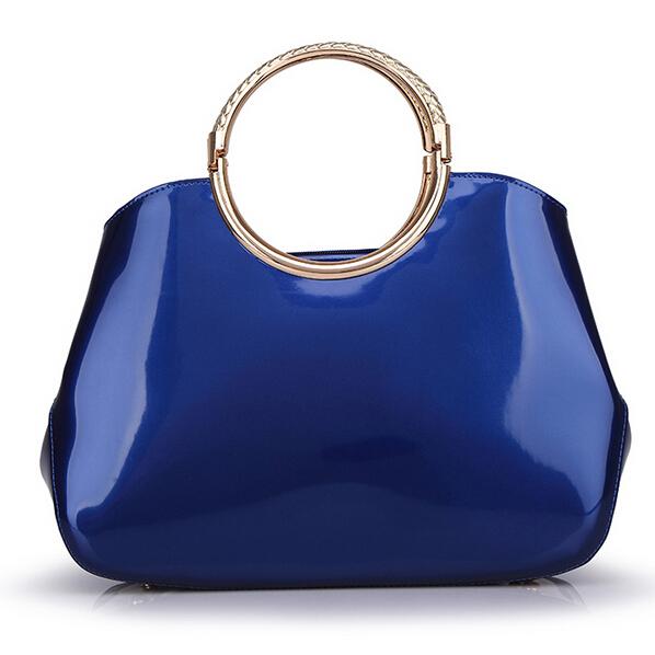 designer handbags high quality 2015 Women fashion patent leather Shell handbag women leather handbags 4 color(China (Mainland))