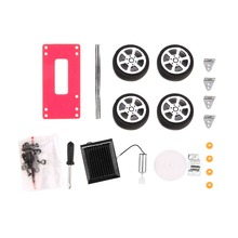 1pc Self assembly Mini Solar Powered DIY Car Kit Children Educational Toy Gadget Gift 3 color Brand Hot Selling(China (Mainland))