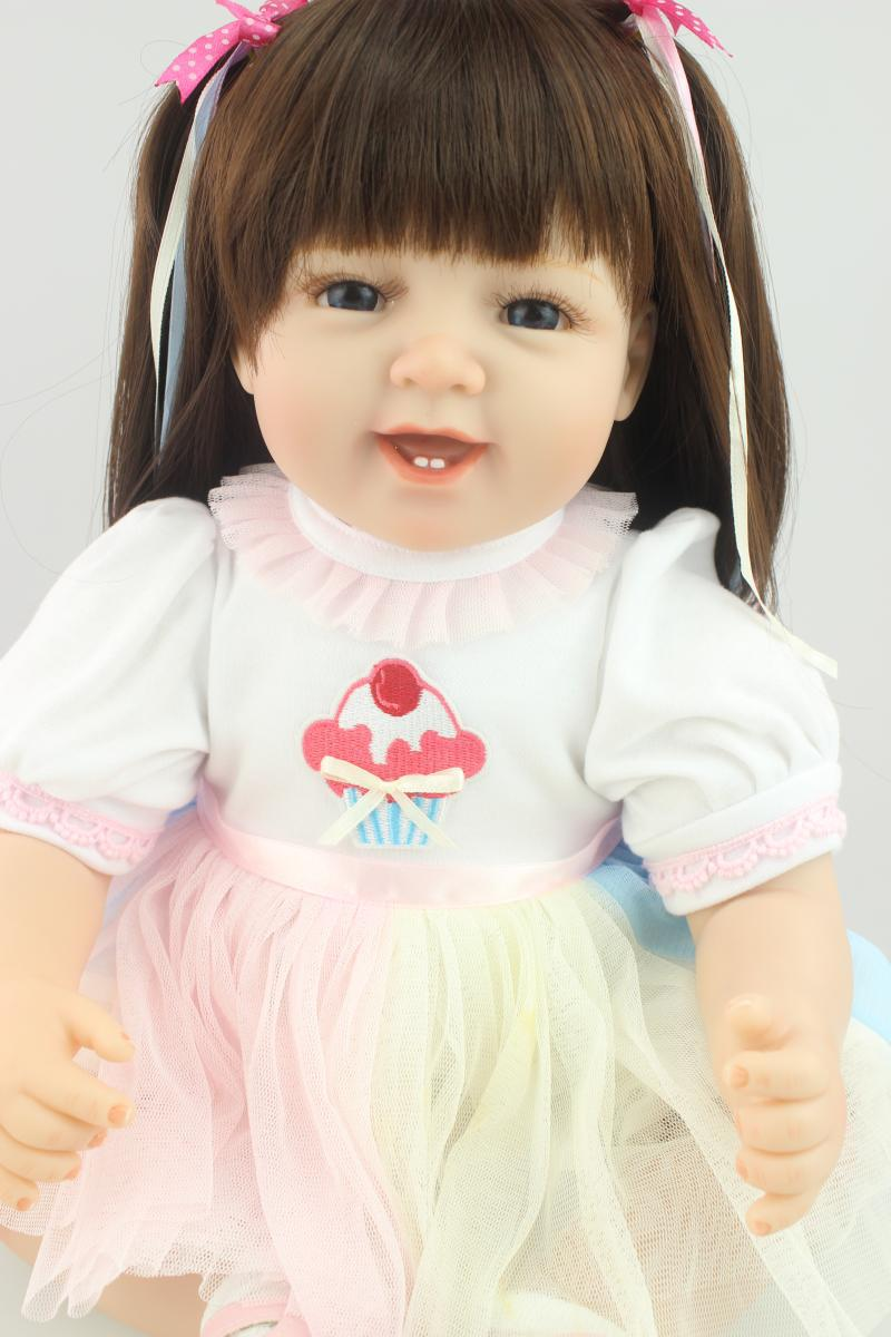 22 inch Reborn Baby Doll solid Vinyl Like Silicone Girls Christmas Gift Baby Toys Birthday Gifts Juguetes LifeLike Play Doll<br><br>Aliexpress