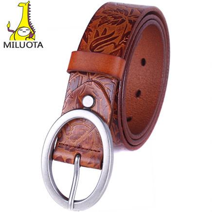 [MILUOTA] 2015 Women belt brand 100% Genuine Leather Belt woman Metal Pin Buckle designer Belts For Women cintos femininos DE044(China (Mainland))