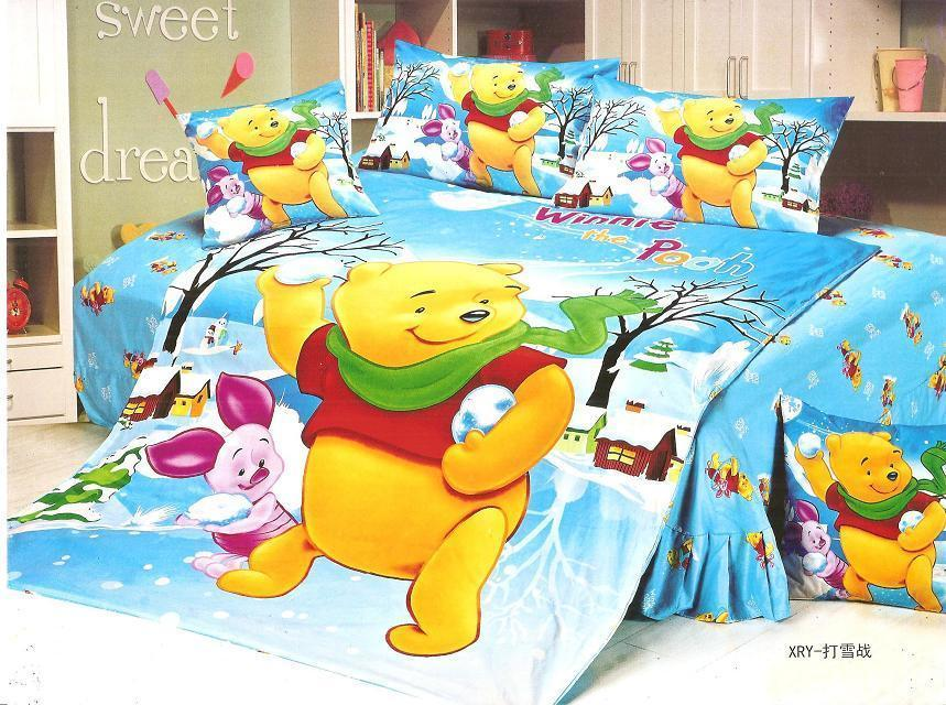 Popular blue yellow duvet cover buy cheap blue yellow for Winnie the pooh bedroom designs