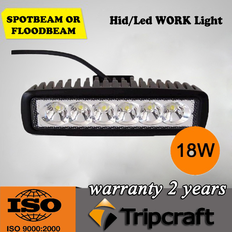 Free shipping 6INCH 18W MINI LED WORK LIGHT BAR FLOOD FOR OFF ROAD 4x4 TRUCK ATV LED DRIVING LIGHT BAR SAVED ON 36W/72W(China (Mainland))