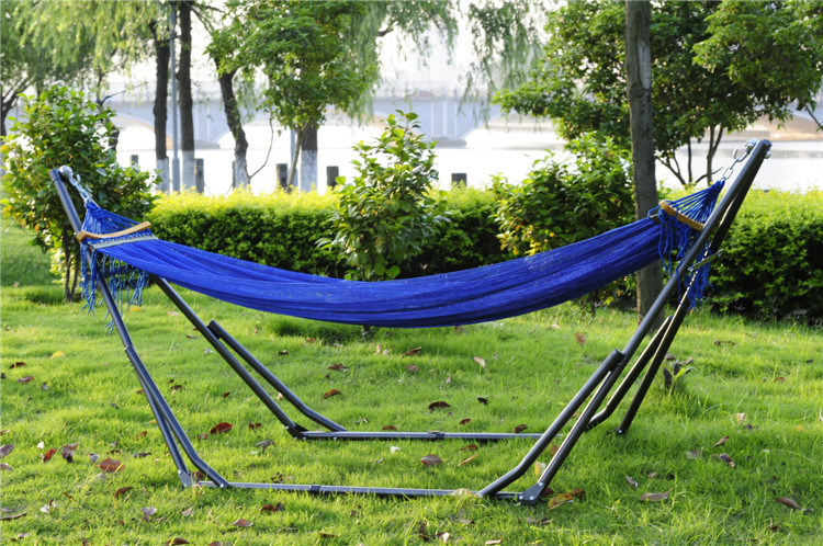 Folding hammock outdoor hanging chair steel pipe mount portable swing inHammo
