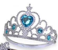 Nueva Corona de hielo Twinkle accesorios para el cabello para niñas princesa corona nupcial cristal Tiara aro bandas para el cabello regalos(China)