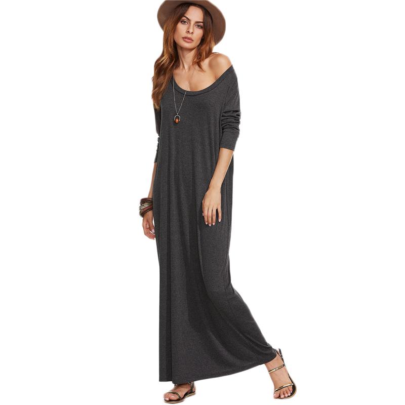 Heather Tee Long Sleeve Maxi Dress
