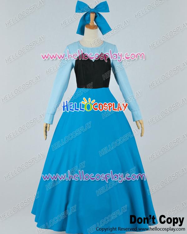 Little Mermaid Blue Dress Costume Ariel Blue Dress Costume