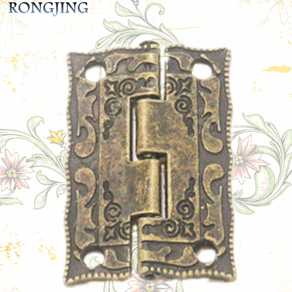 20pcs Furniture Cabinet Hinge Jewelry Box Hinge Antique Hinge Packaging Accessories Surface Mounted Hinge 36*23MM(China (Mainland))