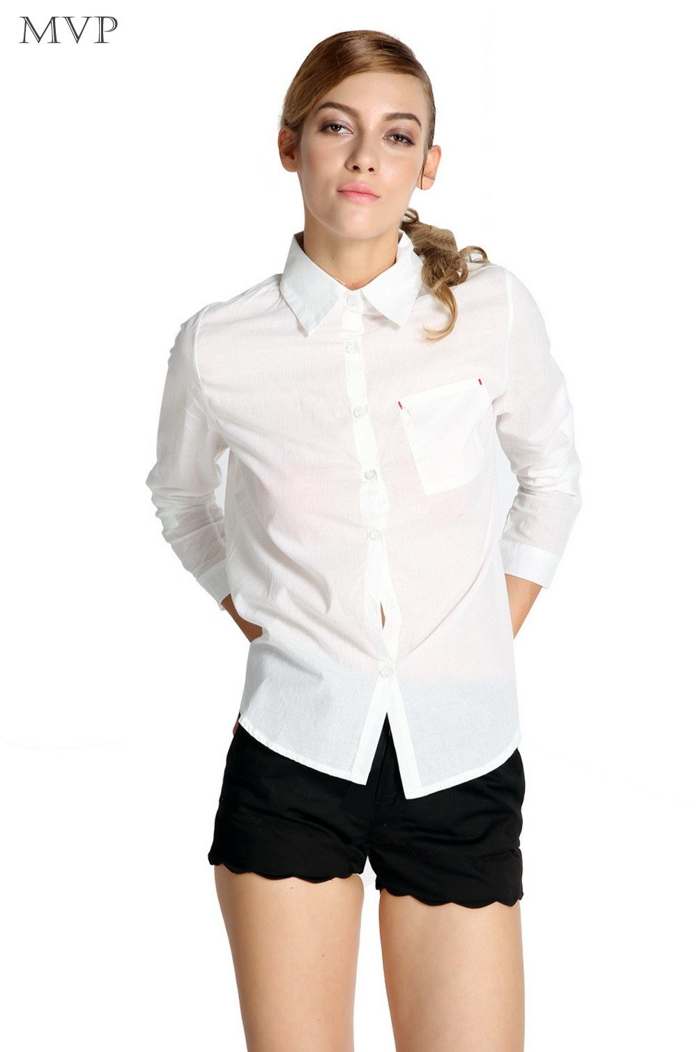 Shop from women's button down shirts, women's denim shirts, women's linen shirts, women's oxford shirts, and silky blouses. Choose from short sleeve blouses, 3/4 length sleeve blouses and long sleeve women's shirts.