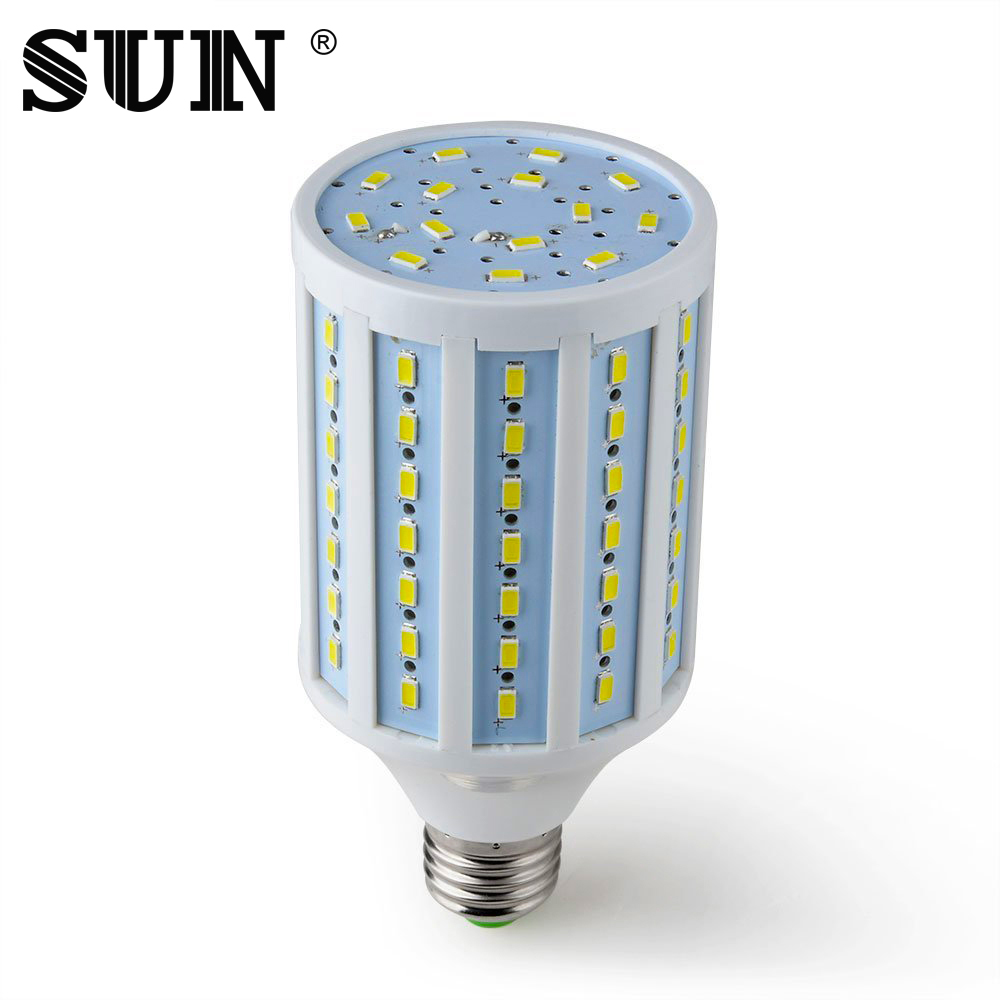 lamp led e27 220V light bulbs smd 5730 24 42 60 84 98 132 165 Leds Cold Warm White home lampadine Corn Light Chandelier White(China (Mainland))