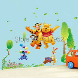 Wall murals for Baby pooh and friends wall mural