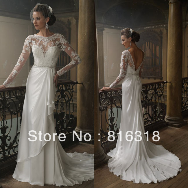 Buy vestidos de noiva free shipping sexy for Vintage lace wedding dress open back