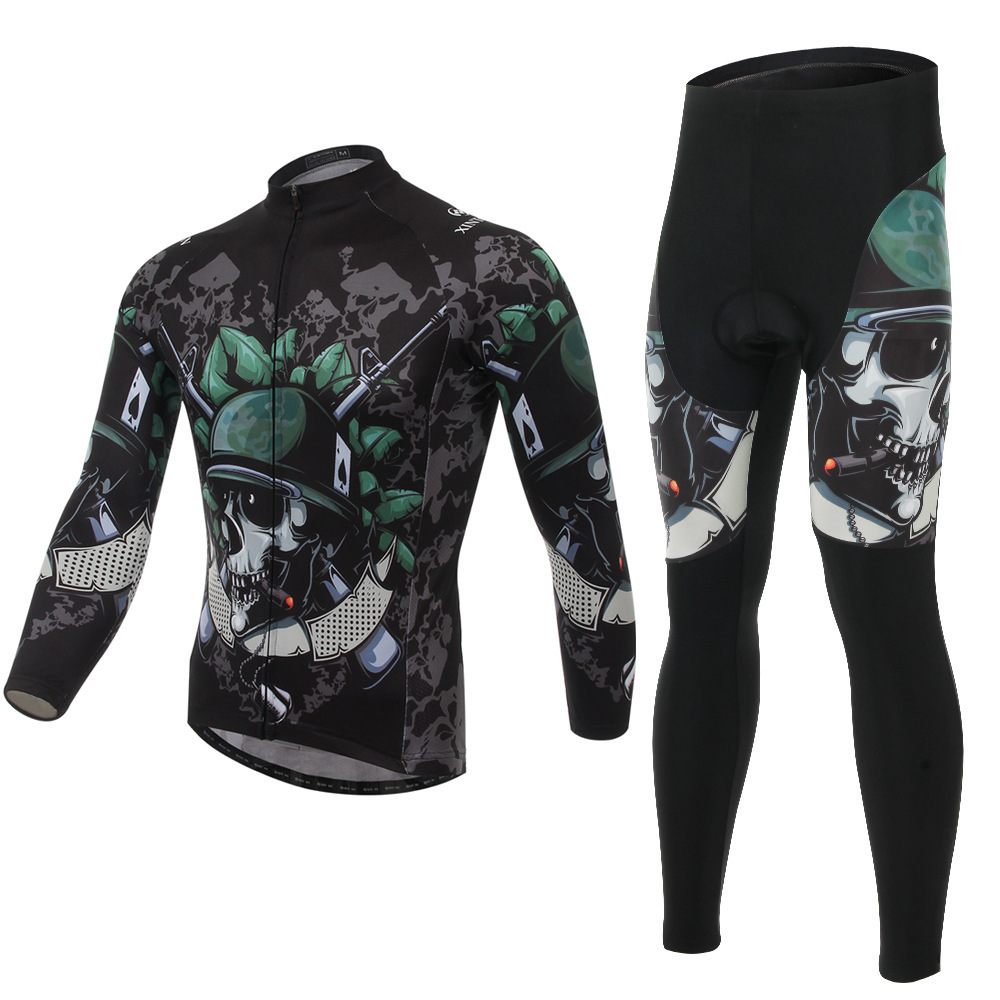 2015 XINTOWN Cycling Sportswear Men Bicycle Jersey Quick Dry Long sleeve jersey + Pants Set clothing - ZHQ store