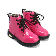 Children's shoes 2016 spring children Korean version of Martin boots leather waterproof boots for men and women boots(China (Mainland))