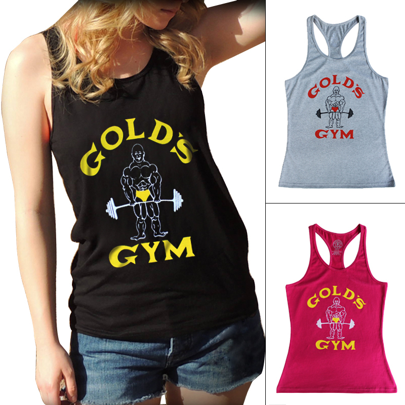 Tank Top Women Golds Gym Vest Fitness Singlets Bodybuilding Stringer Clothing Sexy Crop Tops Female Shirt Undershirt Clothes(China (Mainland))