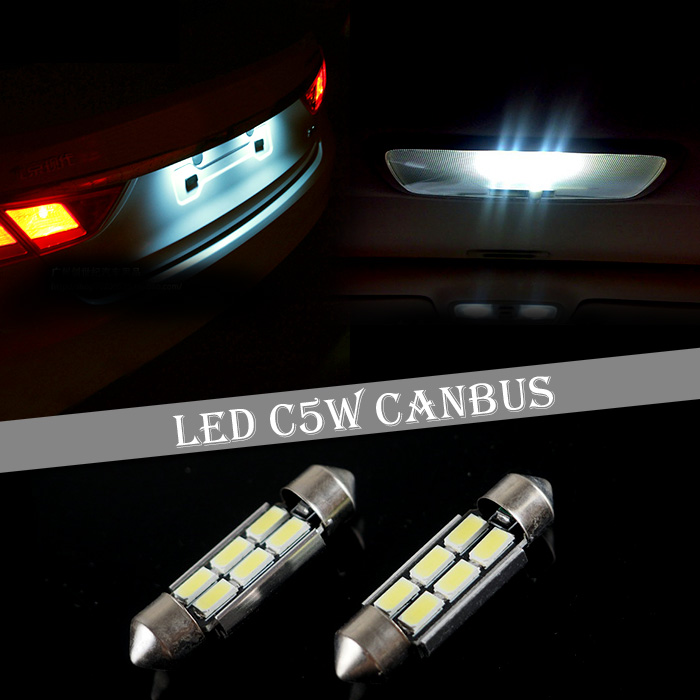 50x C5W 36mm 39mm 42mm Dome Festoon 9 SMD 5630 5730 LED CANBUS Car Interior Reading License plate light No Error white(China (Mainland))