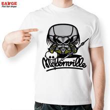 [EATGE] Exclusive Creative Casual Melon Head Predator T-shirt White Short Sleeve Brand Men T Shirt Funny Melonhead Tshirt