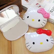 Kawaii Hello Kitty Hand Mirror,Portable Pocket Cosmetic Mirror Makeup Mirror,Novelty Item (China (Mainland))