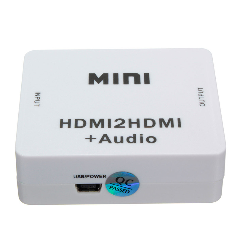 New Arrival High Quality Mini HD 1080P HDMI to HDMI Audio Video Converter Adapter Decoder Extractor Box(China (Mainland))