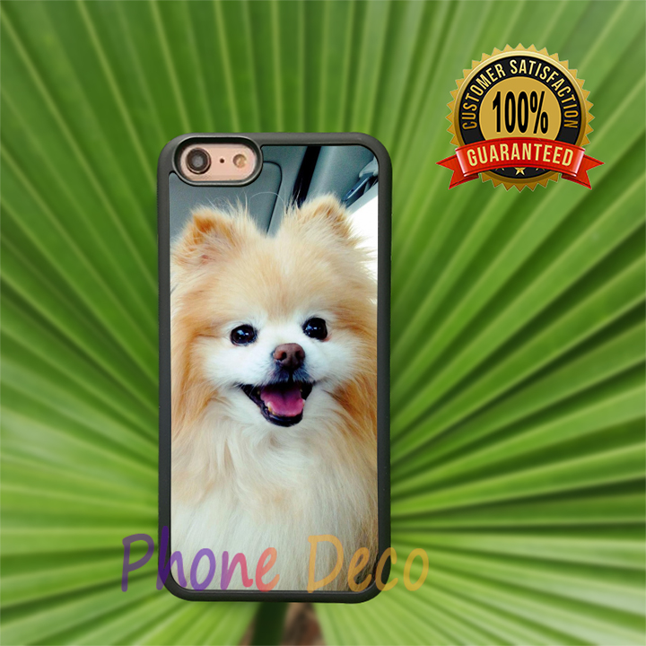Cute Boo Pomeranian fashion cell phone cases for iphone 4 4s 5 5s 5c 6 6s 6plus 6splus B6159(China (Mainland))