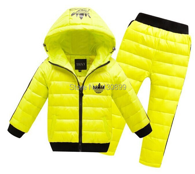 HOT 2015 best sale boys/girls winter clothing suit set baby child Sports warm jacket+pants sets children suits - Very good's store