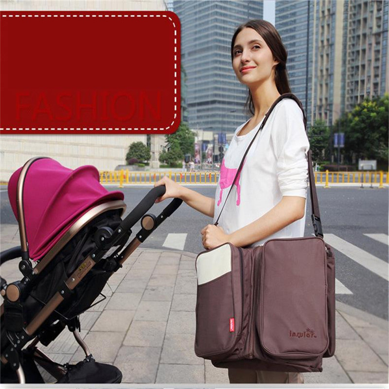 Фотография Mummy Bag Large Capacity Multi-function Combo Pack Portable Folding Baby Bed Mother And Child Travel Cot
