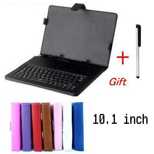 "Universal 6 Colors 10.1 inch Micro-USB Keyboard Leather Cover Case For 10.1"" Tablet PC English Or Russian Keyboard For Choose(China (Mainland))"