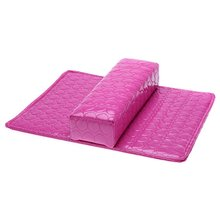 JFYB-5*Soft Hand Cushion Pillow And Pad Rest Nail Art Arm Rest Holder Manicure Nail Art Accessories PU Leather rose(China (Mainland))