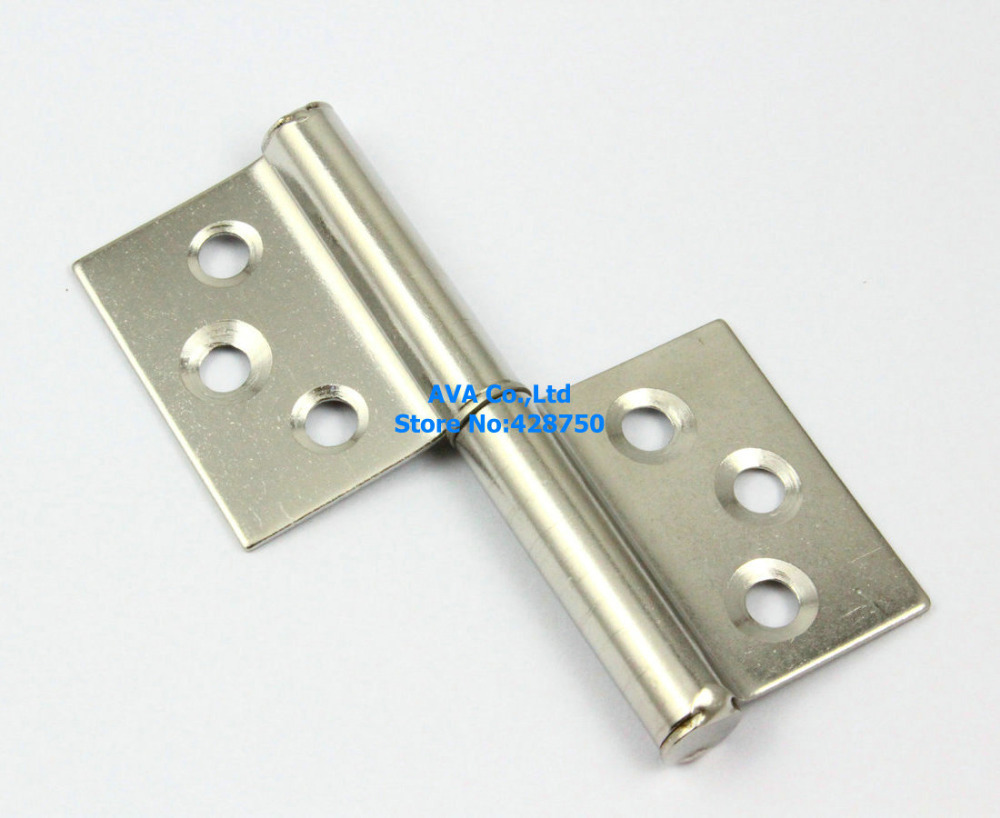 "4 Pieces 3"" Length Rectangular 2 Leaves Flag Hinge Door Hinge / Stainless Steel(China (Mainland))"