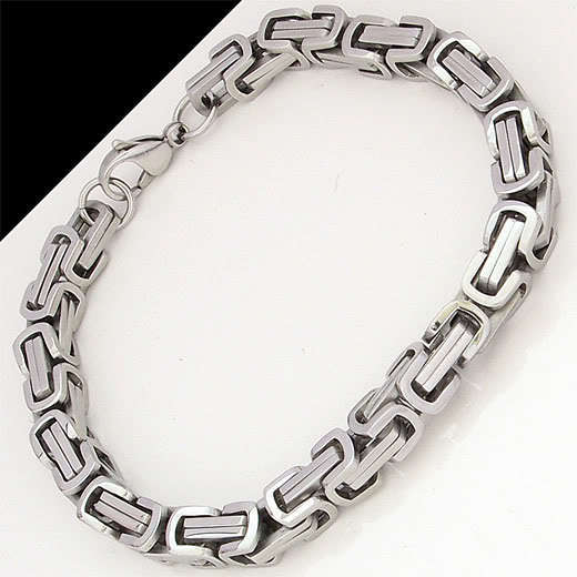 stainless steel bracelet men punk rock jewelry high quality pulseira masculina byzantine chain link bracelets for women VB105(China (Mainland))