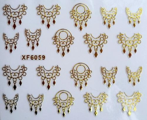 DIY gold design Water Transfer Nails Art Sticker decals lady women manicure tools Nail Wraps Decals(China (Mainland))