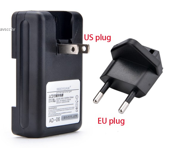 Universal LCD Indicator Mobile Battery Home Travel Charger For Cell Phones USB-Port US/EU Plug B2# 41
