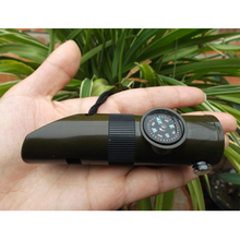 Whistle Free shipping Outdoor camping survival whistle to escape Seven multi-function combination whistle Outdoor products(China (Mainland))