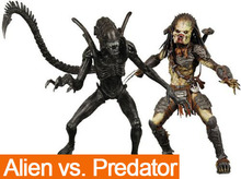 NECA 2 Pcs/set Alien vs. Predator Pretty Cool Alien Xenomorph Scientific PVC Action Figure Model Collection Toy In Box(China (Mainland))