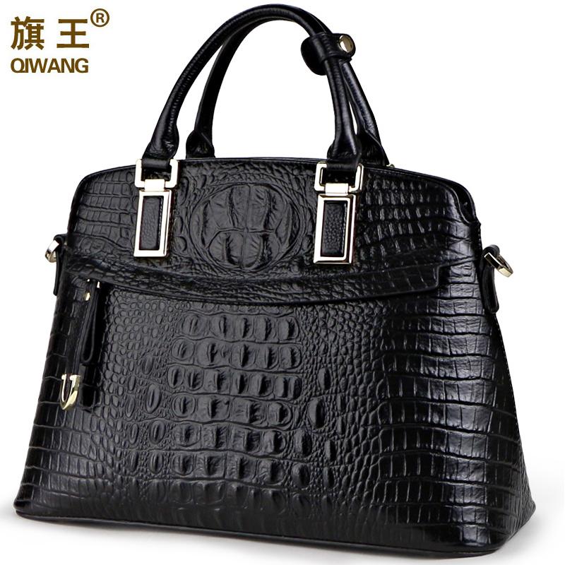 Qiwang small one QW8350 guarantee100% genuine leather crocodile bags /crocodile handbag for women top sales<br>