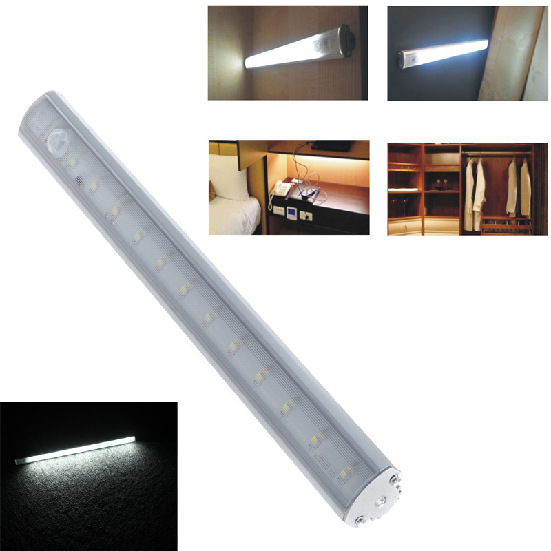 SMD 3528 LED Bar Light LED Under Cabinet Light PIR Motion Sensor Lamp For Kitchen Wardrobe Cupboard Closet Pure White(China (Mainland))