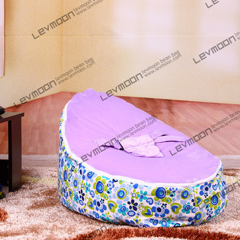 FREE SHIPPING baby bean bag with 2pcs purple up cover bean bag seat bean bag no filler bean bag furniture(China (Mainland))
