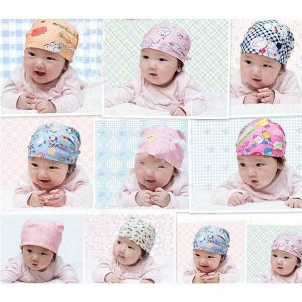 GreenFountain Cute Cartoon Cotton Baby Goldfish Cap Headcloth Pirate Knotted Hat(China (Mainland))