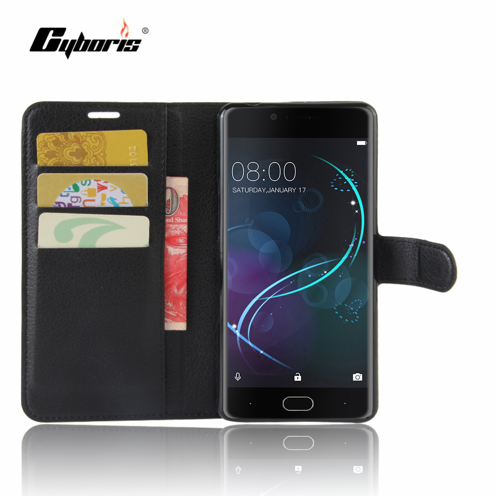 CYBORIS Doogee Shoot 1 Case PU Leather Phone Cover Doogee Shoot 1 Flip Cover Stand Wallet Bag Card Holder