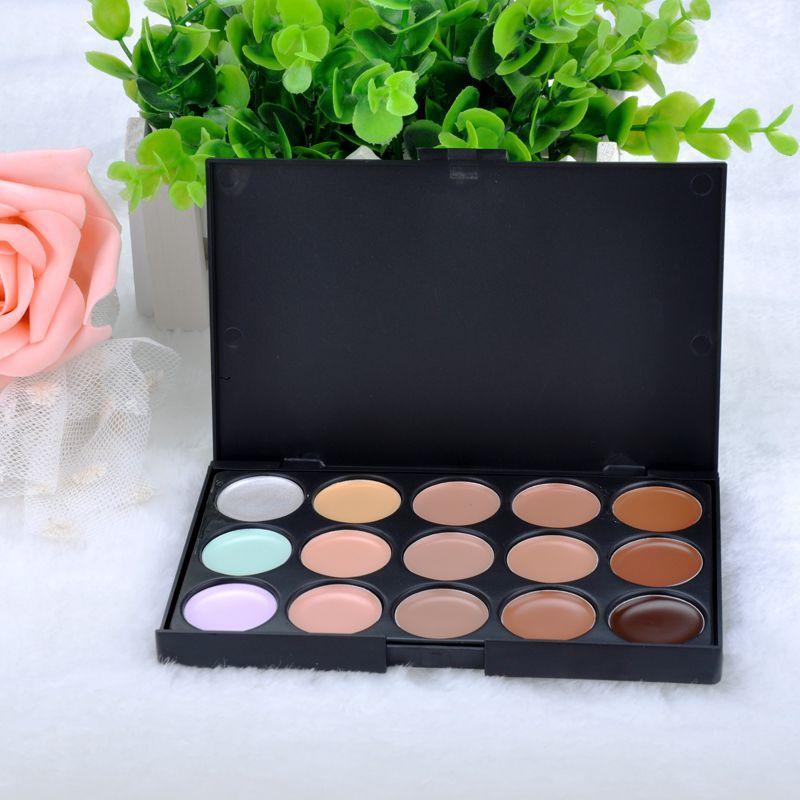 15 colors Concealer Neutral Palette 15 color makeup tools scar cream Face concealer Camouflage Makeup FXMPJ034#M2(China (Mainland))