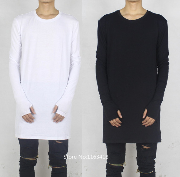Cool thumbholes t shirt extended oversized kanye west for Hip hop t shirts big and tall