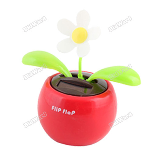 tradecode Solar Powered Cool Car Dancing Toys Flip Flap Flower [24 hours dispatch](China (Mainland))