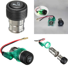 Buy 1 Pcs 2016 Newest Portable Green 12V 120W Light Motorcycle Car Boat Cigarette Lighter Power Socket Outlet Plug for $2.22 in AliExpress store
